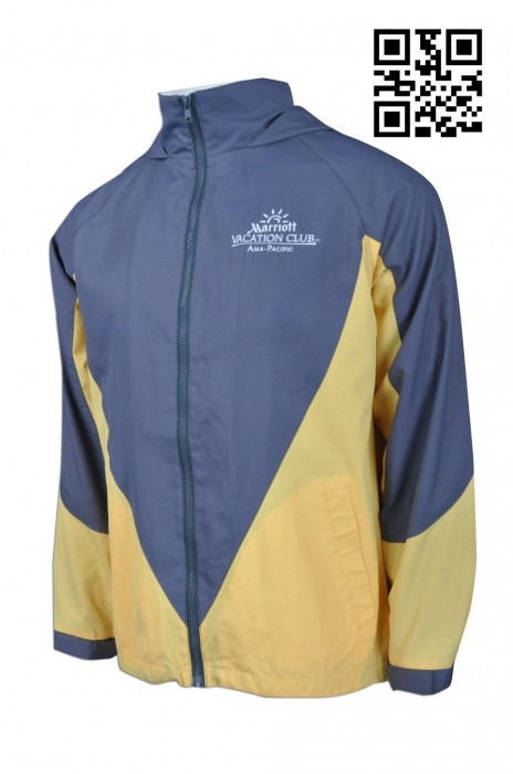 J656 製作拼色風褸外套  度身訂造風褸外套  酒店 會員 會藉風褸 大量訂造外套 外套專門店