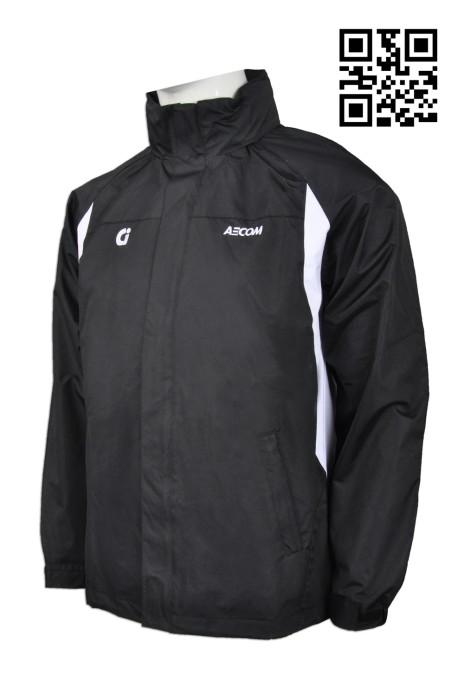 J663 網上下單風褸外套 來樣訂造風褸外套 Varsity jacket 度身訂造風褸外套 風褸制服公司