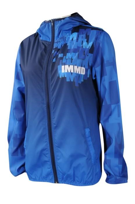 J764 來樣訂做風褸外套 製作風褸外套款式 數碼彩印 熱昇華 自訂風褸外套製衣廠