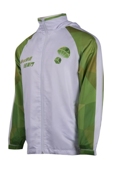 J806 訂製撞色袖風褸外套 澳門 風褸外套生產商 非牟利社團 民間社團組織 合營組織