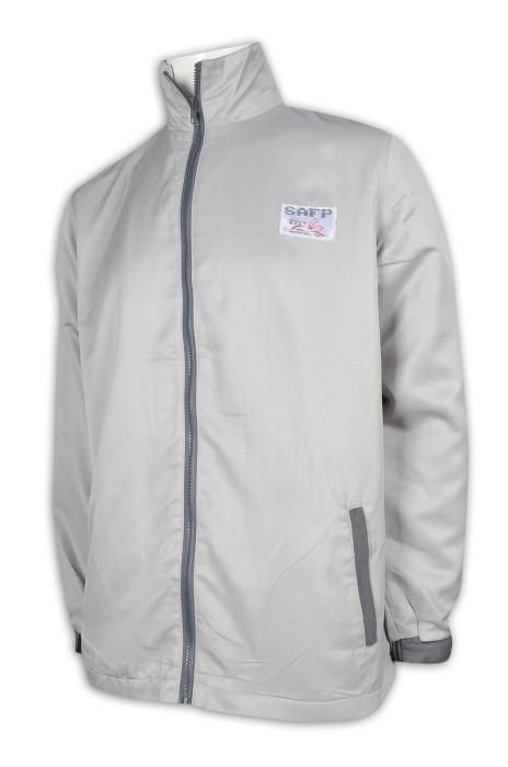 J857 製作男裝風褸外套 魔術貼袖口 織嘜LOGO 100%滌 風褸外套專門店