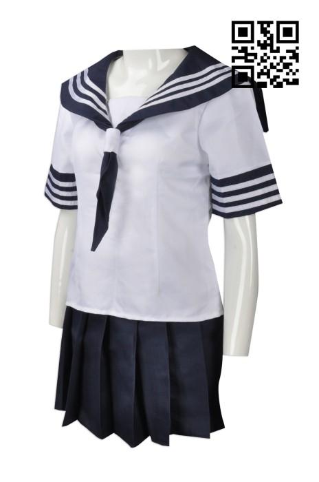 CP001  供應日式校服裙  設計水手服cosplay   日式 角色扮演 易服 戲劇用 訂造校服短裙cosplay  cosplay供應商 和風