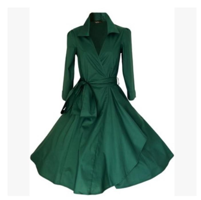 CP010  訂購Audrey Hepburn 裙 複古 swing dress   設計長袖連衣裙  供應翻領收腰顯瘦大碼復古宴會中長款 禮服名媛  cosplay製造商