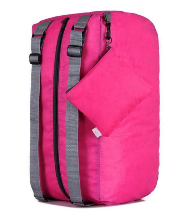 FB004 訂造時尚折疊包款式   製作多功能折疊包款式  運動背包  可收縮背囊 輕便 收縮袋 收納背包 設計旅行折疊包款式  折疊包製造商