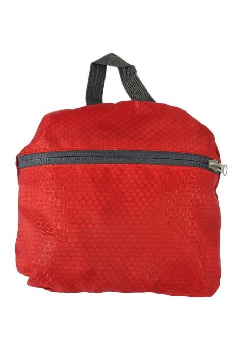 FB012 自訂折疊包 尼龍 兩用 折疊背包 紅色 輕便 收縮袋 折疊包生產商