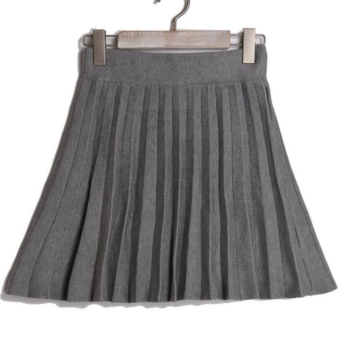 SKPS003 定制針織百褶   設計半身百褶裙  網上下單百褶裙 百褶裙專營   棉   百褶裙價格