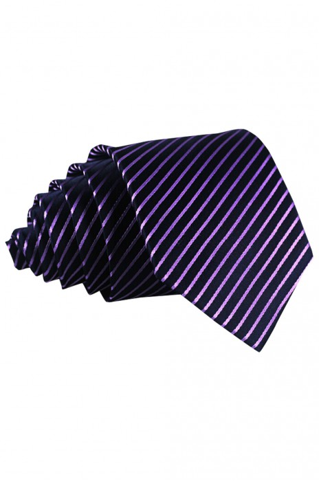 BT014 供應深紫色領帶 男 條紋斜紋領帶 職業 正裝 商務 結婚禮新郎 領帶寬度8cm