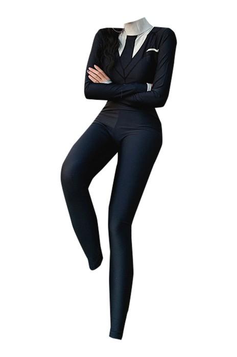 ADS026   西裝泳衣女   連體兩件套   修身顯瘦   沙灘度假潛水服