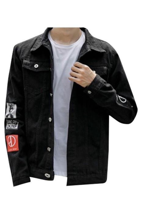 SKJN005 訂製男裝牛仔外套 設計潮流時尚牛仔外套  牛仔外套中心
