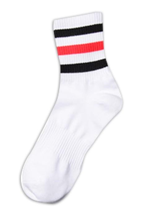 SKSG009  中筒純棉襪子 條紋四季黑白男女襪子  防臭中筒襪 夏薄款