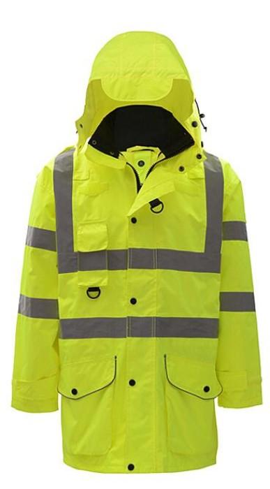 SKRC010 製作夾棉反光外套款式   自訂兩件套反光外套款式   兩件套  防水 夾棉   訂做交通反光外套款式  反光外套專營