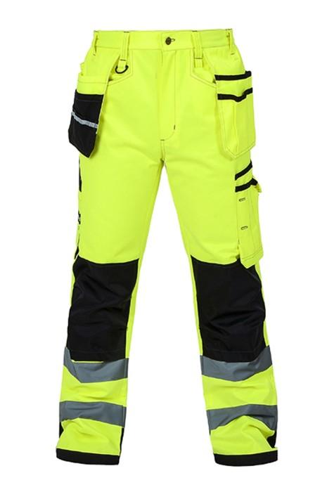 SKRC015 網上下單螢光褲 多袋 膝蓋 耐磨設計 螢光反光工程男工作長褲 反光褲供應商 BS EN 343 class 3:3  螢光