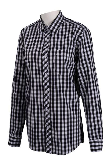 R270 設計長袖格子恤衫 東華三院 香港慈善機構 恤衫專門店