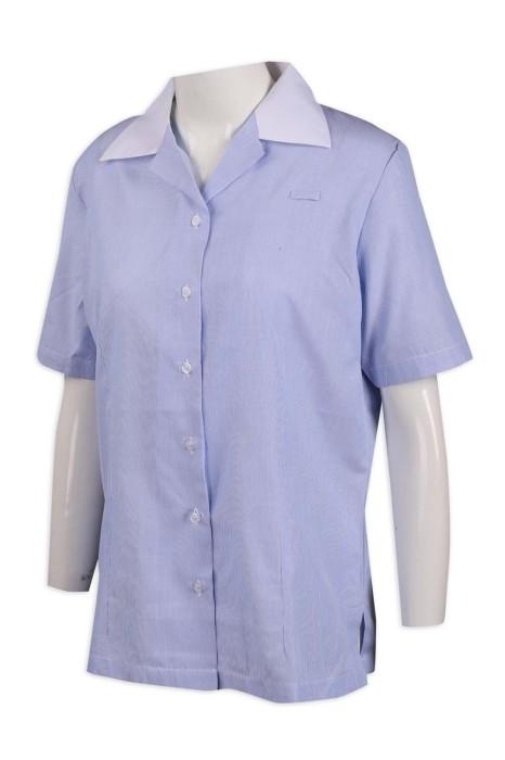 R273 訂製女裝短袖恤衫 65%棉 35%滌 新加坡 恤衫供應商