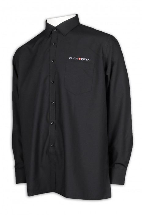 R278 製作男裝黑色恤衫 寬鬆 荷蘭 影片製作公司 市場推廣公司 恤衫專門店