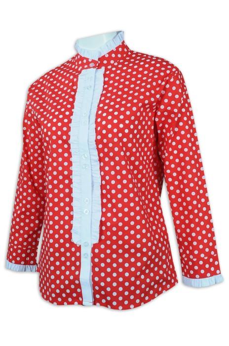R284 訂製時尚女款恤衫 波點  馬術運動 騎師 澳洲 HH 恤衫生產商