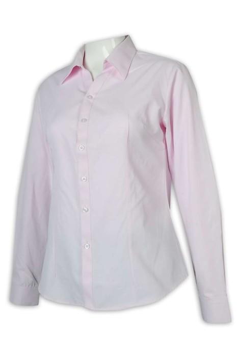 R302 訂做恤衫 粉紅恤衫 女裝 職業 工作服 恤衫製造商