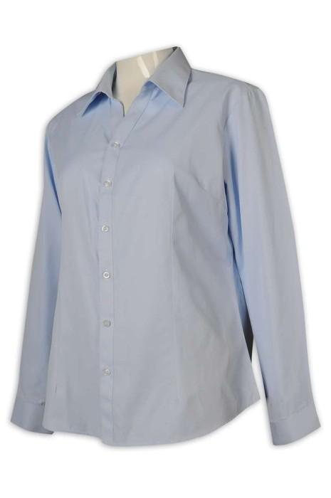 R305 制訂恤衫 女裝淨色恤衫 大量訂購恤衫 45%棉 55%聚酯纖維 恤衫專門店