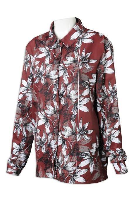 R327 來樣訂製女裝恤衫 個性化印花恤衫 恤衫專門店 熱帶餐廳