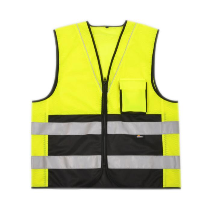 SKVT004  訂製夏季透氣網眼反光背心 設計螢光反光馬甲 網上下單反光背心 反光背心製造商  反光背心價格