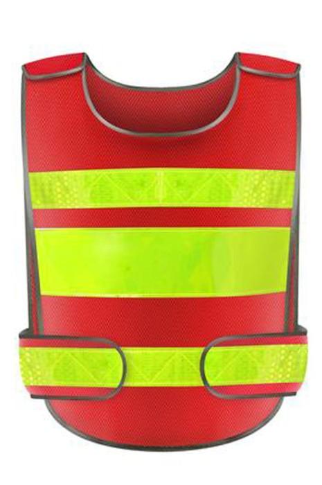 SKVT019 製造反光背心  設計建築工人 街頭清潔工反光背心  反光背心專門店 施工警示背