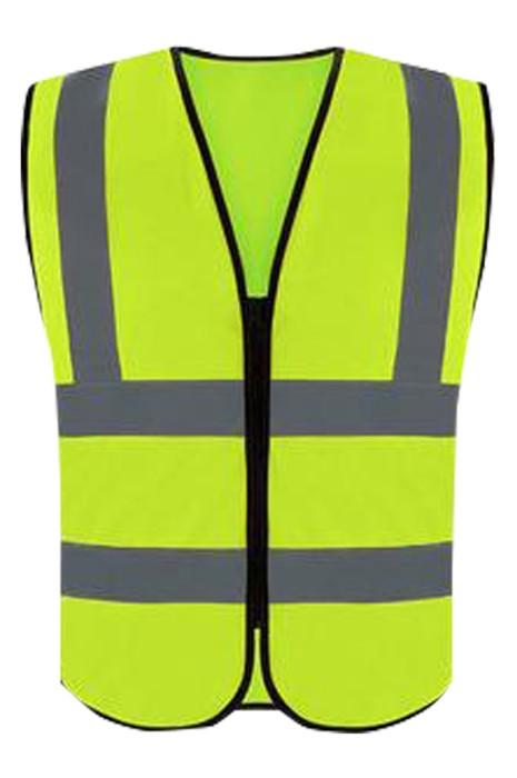 SKVT025 個人設計反光背心  設計拉鏈反光背心地盤工人  環衛工人  高空作業反光衣 反光背心製衣廠