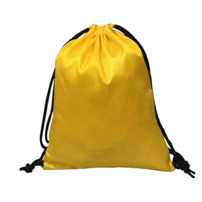 SKRB006 束口袋 運動防水牛津布抽拉繩 雙肩背包袋 菱格索繩袋 索繩袋hk中心 42*34com 43g