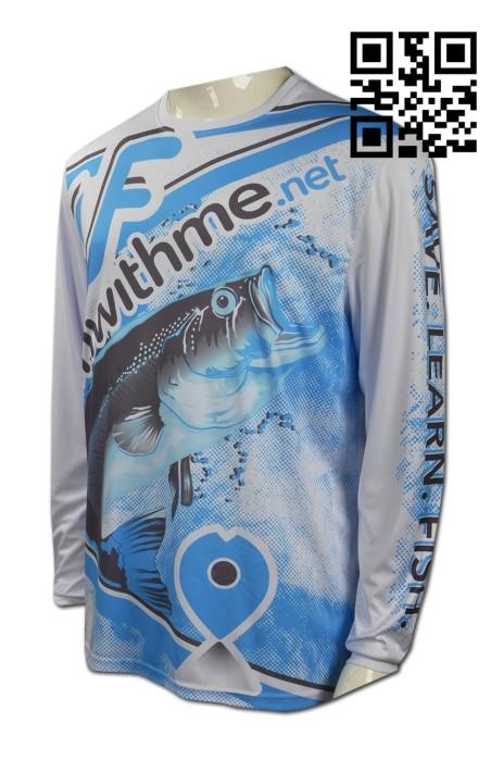 T659 訂做男裝T恤款式   自製LOGOT恤款式   全件印 釣魚防曬 防UV  設計長袖T恤款式   T恤專門店
