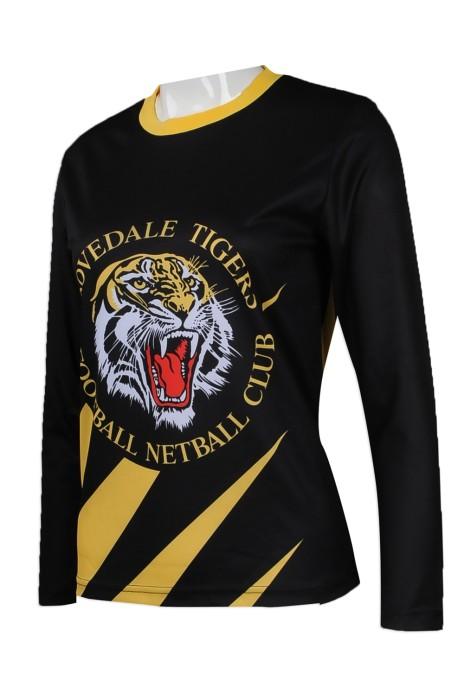 T793 來樣訂做女裝T恤熱升華款式 設計全件印花熱升華T恤 netball  投球  籃網球 隊衫熱升華專營店