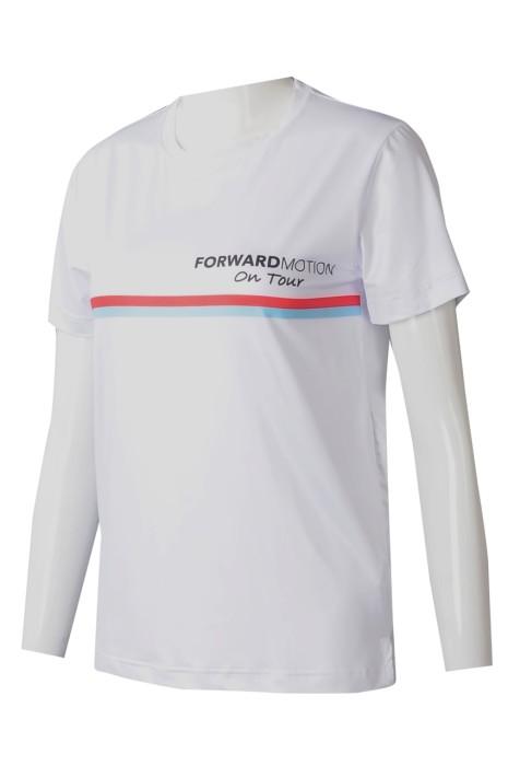 T1025 供應女裝熱升華 訂製白色短袖印花LOGO熱升華 熱升華T恤中心 HK 網球 訓練 假日運動交流營