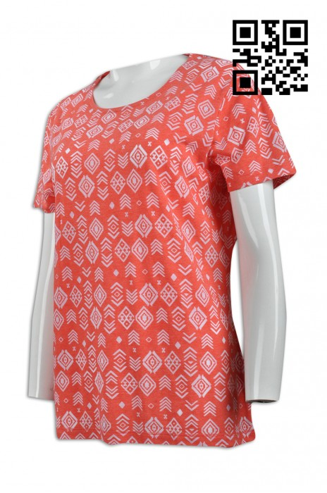 FA322  訂造度身T恤款式   製作LOGOT恤款式   全身印花   設計女裝T恤款式   T恤專門店