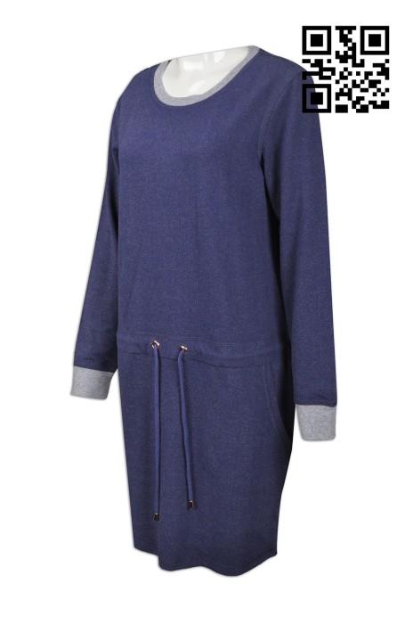 FA330 訂製量身時裝款式款式   自訂女裝時裝款款式  針織兩身衛衣 花紗衛衣  製造時裝款款式   時裝款專營