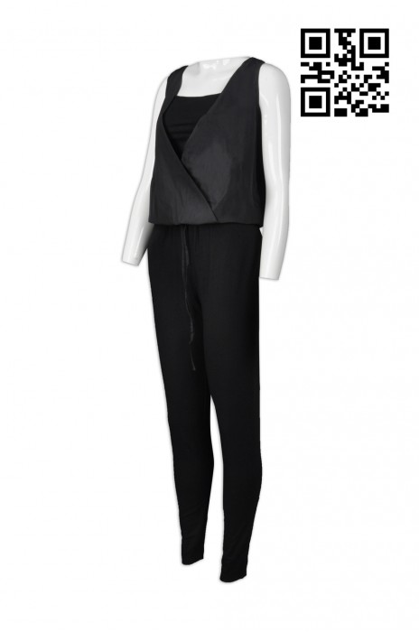 FA334 訂購時尚連體裝  設計內搭背心時尚款  製造連體褲時尚款 時尚裝供應商