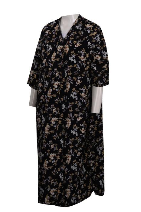 FA349 設計碎花連衣裙  時裝款式製造商