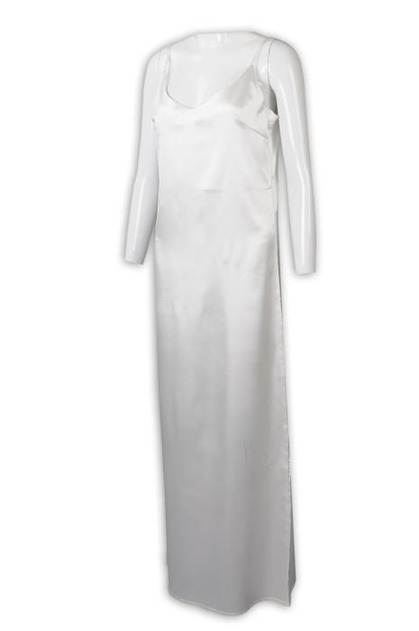 FA358 來樣訂製長款連身裙 設計吊帶連身裙 連身裙製衣廠