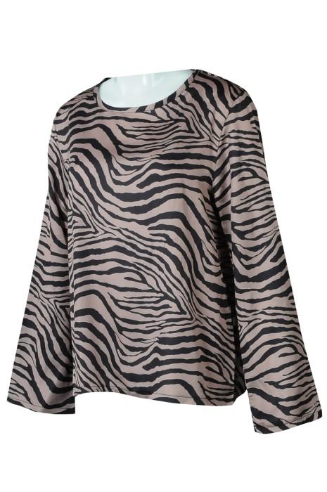 FA367 網上訂購長袖時裝款式 訂製斑馬紋寬袖時裝款式 時裝款式供應商