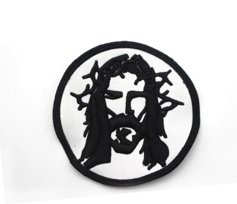 EB003  訂製專業電腦珠片刺繡 供應繡花章輔料廠家 設計3D服裝logo吊牌槍針 立體繡花章製造商