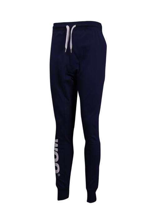 U319  設計束腳運動褲 運動褲供應商
