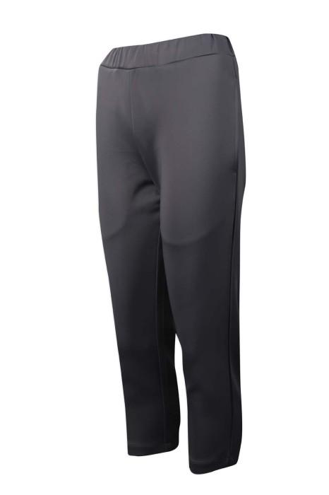 U326 製作淨色運動褲 橡筋褲頭 長運動褲供應商