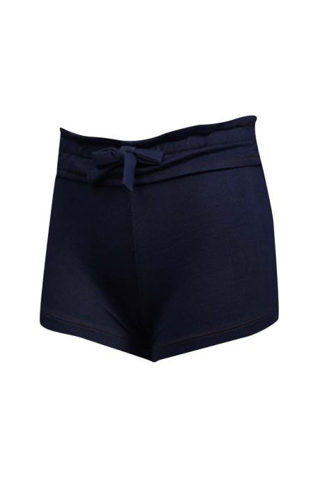 U329 設計彈力運動短褲 打結腰帶 針織牛仔 60%棉 35%滌 5% spandex  運動褲專門店
