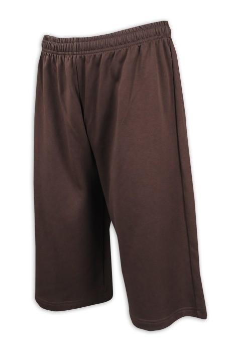 U340 設計休閒運動褲 淨色短褲 運動褲製衣廠