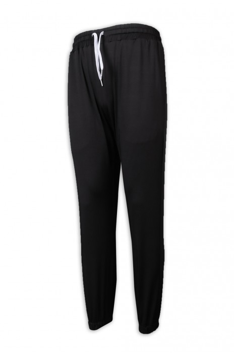 U342 製作淨色運動褲 束腳 橡筋褲頭 長運動褲供應商