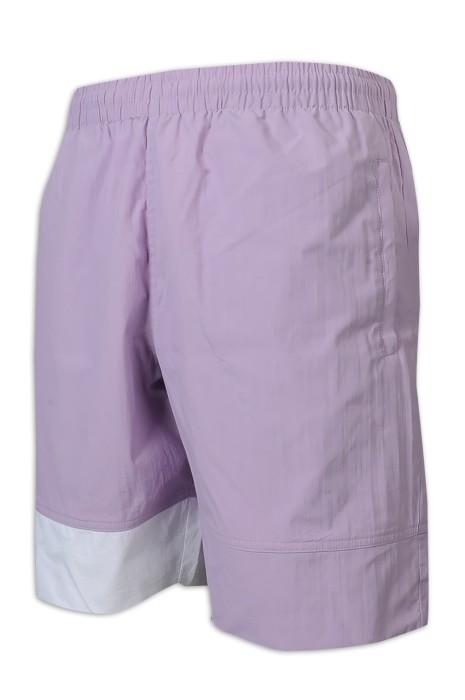 U345 訂做運動褲 100%尼龍 裡100%滌 拼色 男裝 短褲 褲繩 運動褲製造商