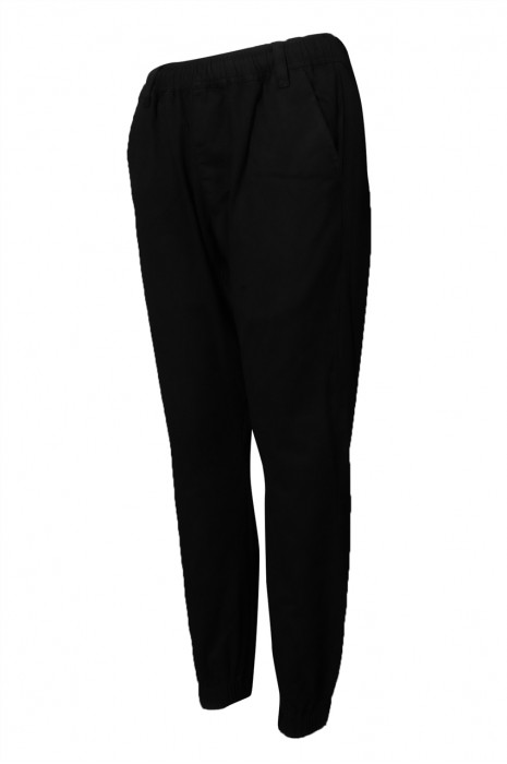 U346 制訂運動褲 男裝 黑色 束腳 淨色 長運動褲 運動褲生產商