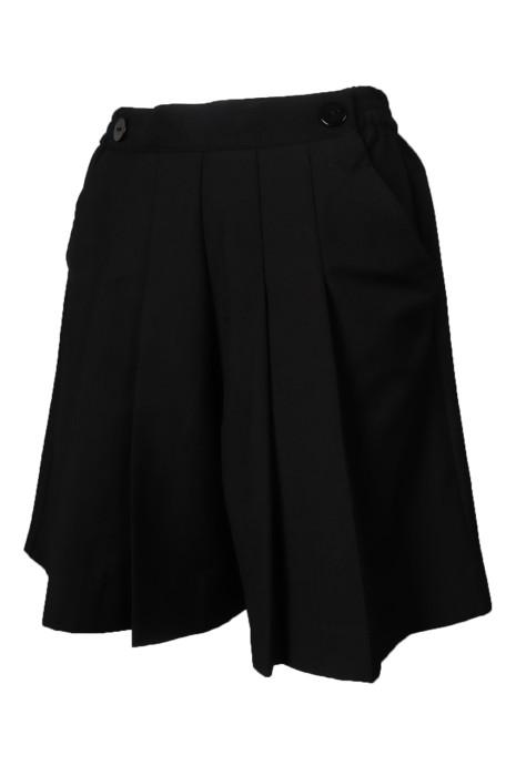 U347 來樣訂做運動褲 女裝 黑色 短褲裙 橡皮筋褲頭 運動褲專門店     運動 褲 裙