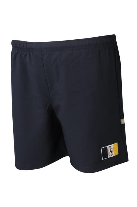 U357 製造男裝運動短褲 個性化橡筋褲頭運動褲 運動褲製服公司  淨色