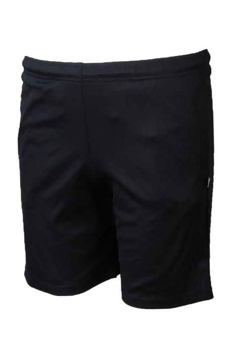 U359 訂印黑色運動短褲 度身訂造抽繩運動褲 運動褲製衣廠