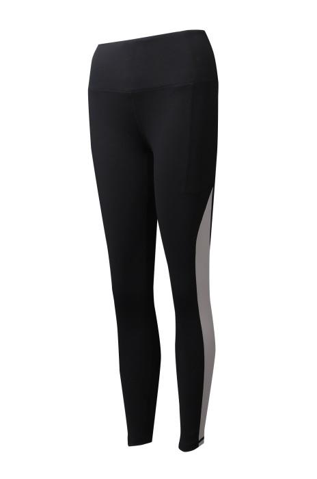 U365  設計側邊印花LOGO   訂製女裝緊身黑色運動褲  運動褲供應商  零售  重 訓壓力褲   新加坡    健康食品