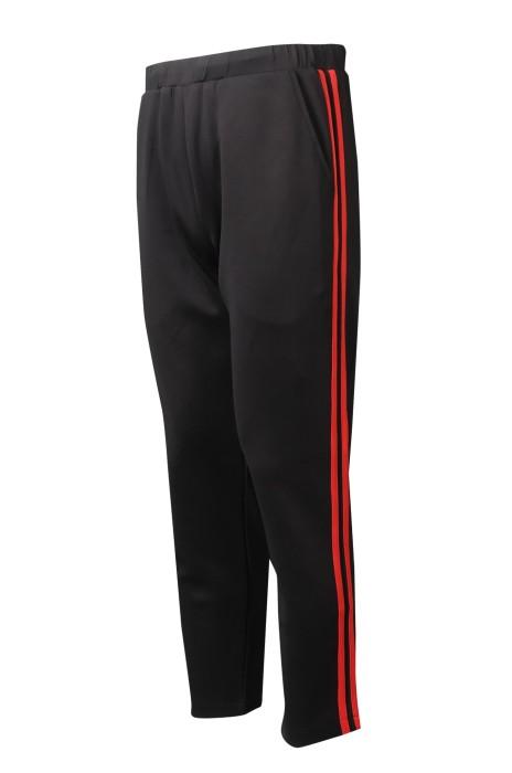 U367  設計側面杠條混色   訂購修身長褲運動褲   橡筋褲頭  運動褲生產工廠   健康拉架布