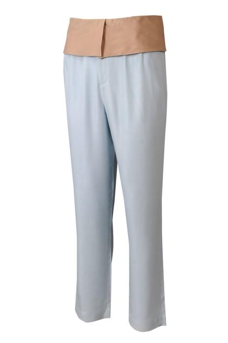 U376 個人設計直筒瑜伽褲款型運動褲 時尚設計寬闊腰頭橡筋鬆緊腰頭運動褲 運動褲專門店 梳織運動褲  100%天絲 主題公園